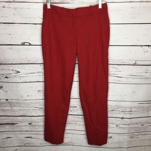 J Crew stretch red dress pants